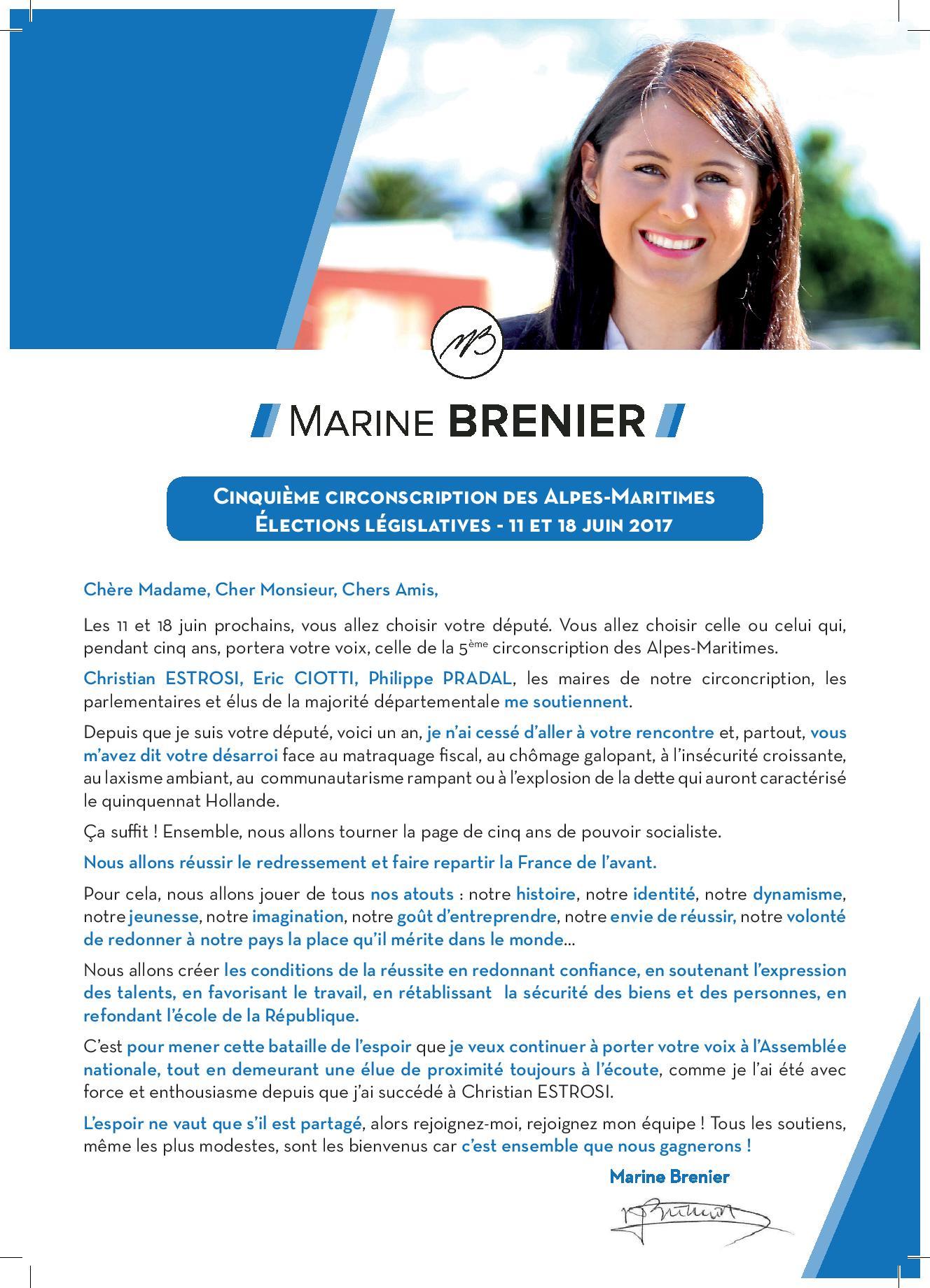 Je soutiens Marine Brenier page 1
